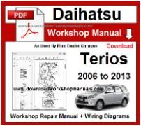 Daihatsu Terios Service Repair Workshop Manual Download